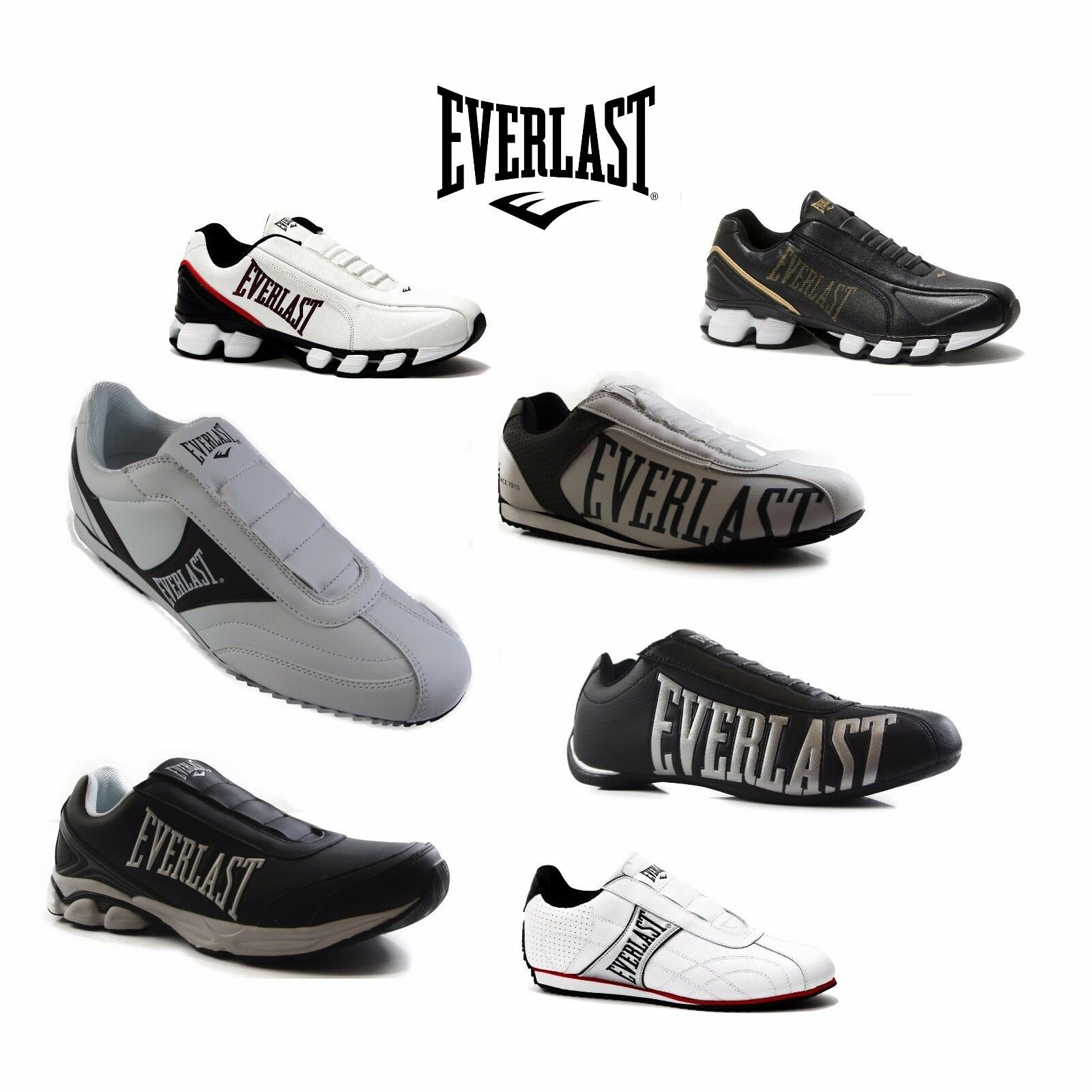Uomo EVERLAST SLIP ON ATHLETIC SNEAKERS RUNNERS Scarpe Assorted Styles & Colours