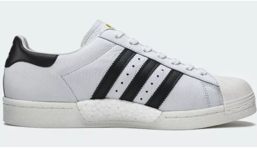 ADIDAS SUPERSTAR BOOST blanc/noir/GOLD BB0188 homme TRAINERS Taille U.K 7-10.5