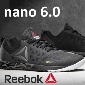 e70f3268f4931c REEBOK CROSSFIT NANO 6.0 MENS BLACK SHOES TRAINING KEVLAR US 7 9 7.5 ...