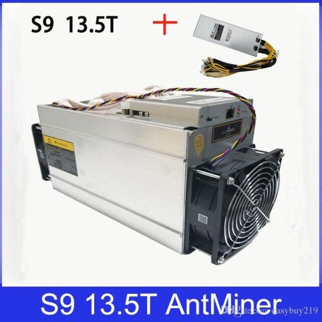 Bitmain Antminer S9 13.5T Bitcoin Mining Machine With Power Supply/Cord