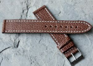 Contrasting-stitching-19mm-Swiss-Made-textured-vintage-watch-strap-1960s-70s-NOS