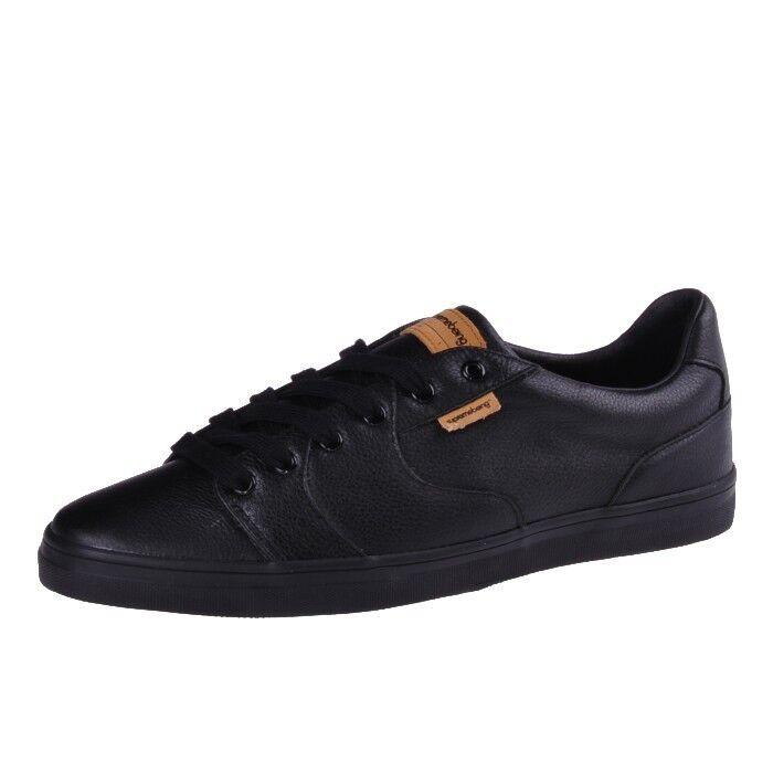 Los zapatos más populares para hombres y mujeres Supremebeing Slab Black negro Leather zapatos cortos