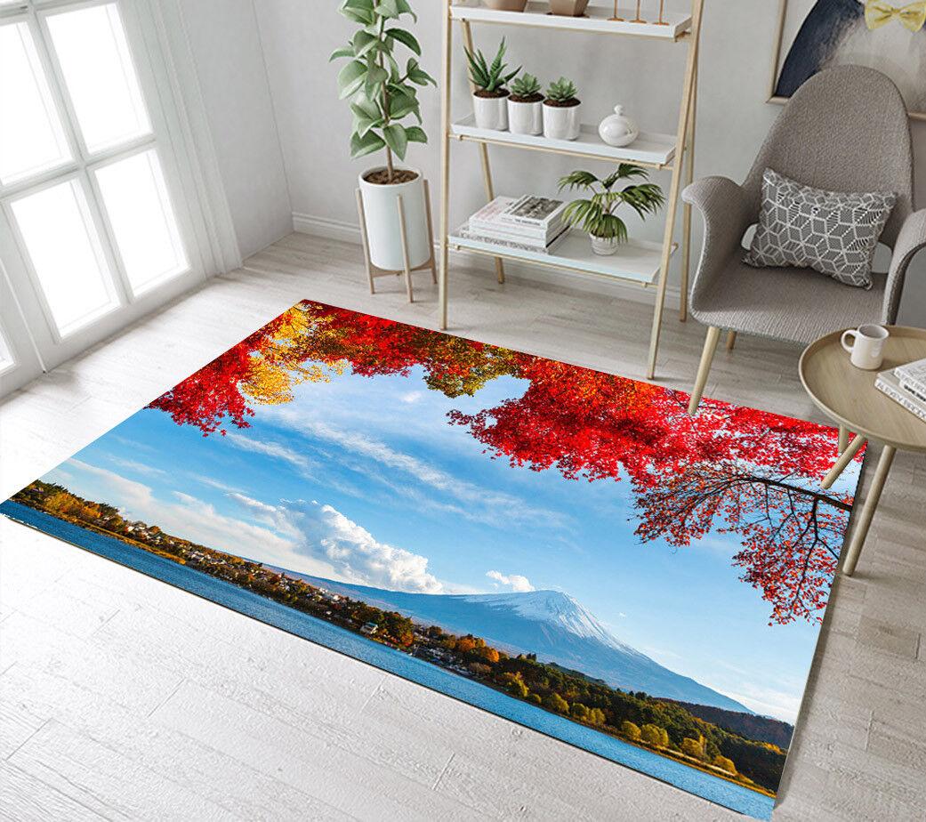 Mountain Lake Landscape Home Carpet Living Room Area Rug Kid Play Floor Bath Mat