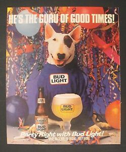1988 spuds mackenzie party animal guru of good times bud light beer