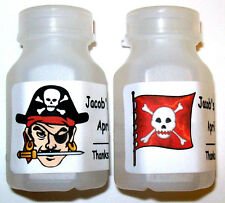 30 PIRATE BIRTHDAY PARTY BUBBLE LABELS FAVORS
