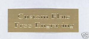 Custom Engraved Plate art-trophy-Tax<wbr/>idermy 1x3 Brass FREE ENGRAVING