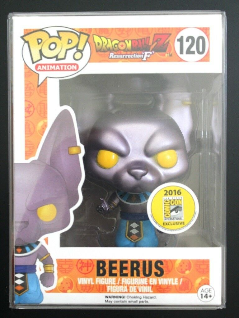 SDCC 2016 Exclusive Funko POP Dragon Ball Z - Beerus with protective case & card