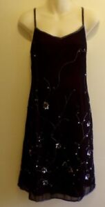 Party-Dress-Size-12-Sheer-Black-amp-Pink-Sequined