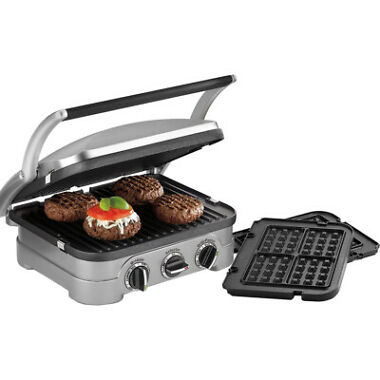 Refurb Cuisinart GR-4NW Griddler with Waffle Plates, Grill & Panini Press