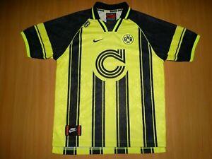 Borussia Dortmund Champions League 18 Home Football Shirt Jersey 1996 97 Ebay