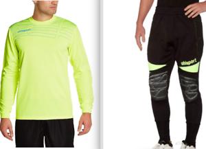 New Uhlsport  Pro Goalie Tech Set FLUO NEON Match Jersey XXL+Akzent Pant XXL