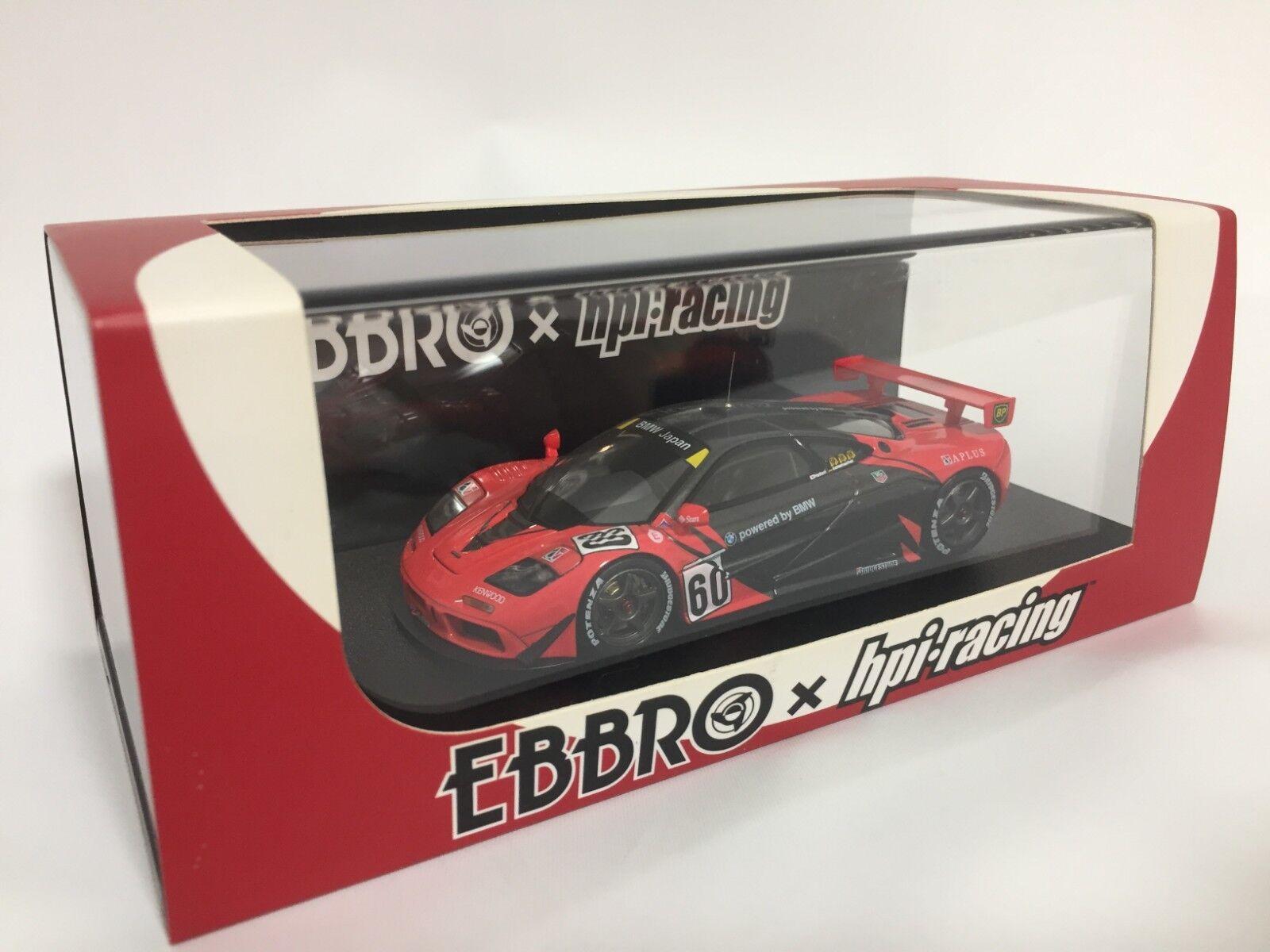 EBBRO 8537 EBBRO x HPI (Go for  it Japan ) McLaren F1 GTR 1996 JGTC  60 1 43 Scale  livraison gratuite