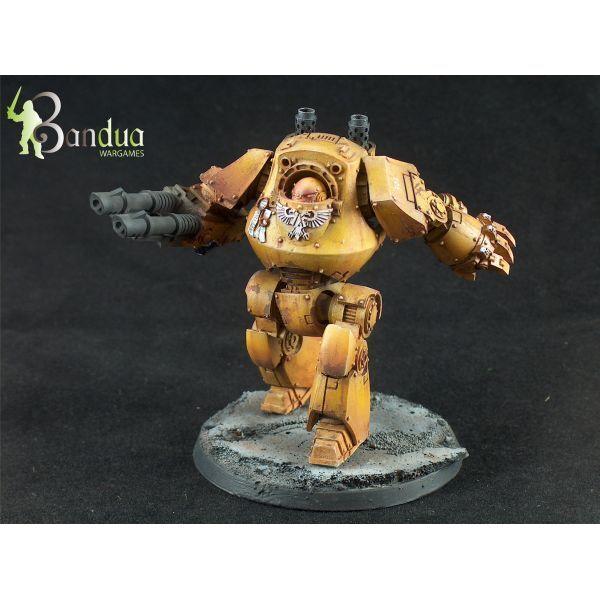 all'ingrosso a buon mercato Imperial Fists Contemptor Patern Dreadnoght Painted - - - Warhammer 40,000  online al miglior prezzo