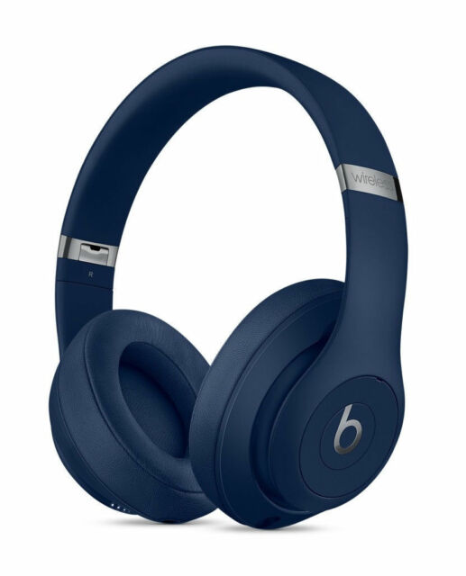 Beats By Dr Dre Studio3 Headband Wireless Headphones Blue For Sale Online Ebay