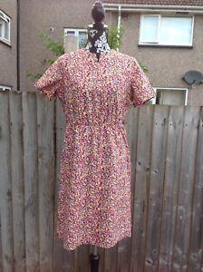 Pretty Multi Colour Vtg Dress Size 14 - newport, Newport, United Kingdom - Pretty Multi Colour Vtg Dress Size 14 - newport, Newport, United Kingdom