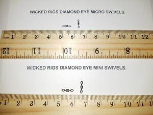 100-pacchi-di-dimensioni-10-amp-Taglia-12-Micro-Diamond-Eye-ROLLING-SWIVELS-regalo-gratuito