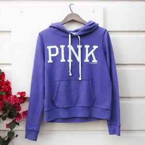 2c2275bb788f88 Victoria's Secret PURPLE HOODIE soft warm PINK LOGO label sweater ...