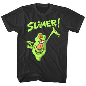 Ghostbusters Slimer Hungry Ghost Men's T Shirt Cartoon TV Show Ectoplasm Movie