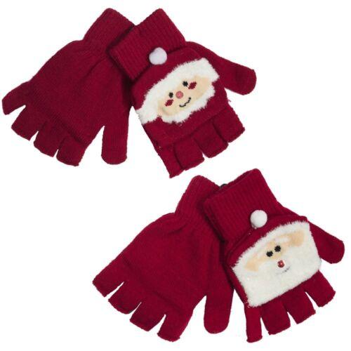 Damen Neuheit Weihnachtsthema Handschuhe Weihnachtsmann Mrs Claus Winter Damen