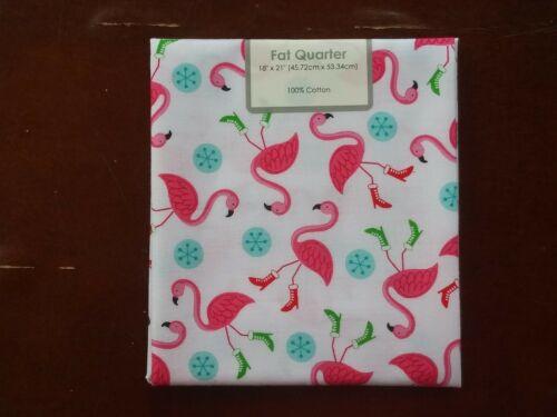 "18/"" x 21/"" NIP Flamingos Single Fat Quarter"