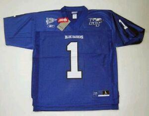 7c6093016 RBK NCAA MIDDLE TENNESSEE BLUE RAIDERS BLUE NO. 1 JERSEY MEDIUM | eBay