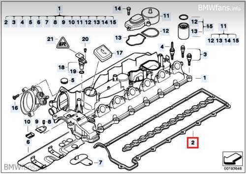 New BMW E46 330d M57 E39 E38 730d X5 E53 M57N2  Valve Cover Gasket 11127796378