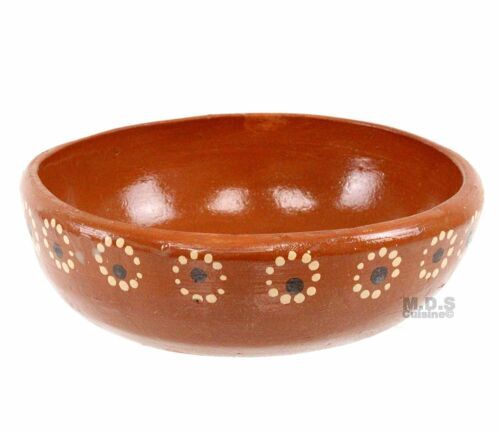 Plato Pozolero Bowl De Barro Traditional Authentic Mexican Artisan Floral...