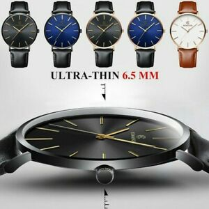 Herren-Sport-Uhr-Echt-Leder-Uhrenarmband-automatische-Armbanduhr-Mechanische-Uhren