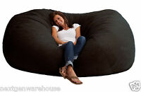 Large Black Bean Bag Chair Bed Sofa Couch Oversized Seat XXL Comfort Memory Foam