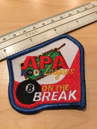 APA American Pool Players Association Pool League On The Break 8 Ball Patch