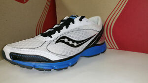 Saucony Men's Grid OutDuel White Black Royal Light Weight Running Shoes 7.5-13