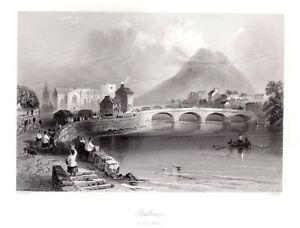 Ballina-River-Moy-County-Mayo-IRELAND-Antique-1840