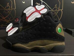 d5a311acd72c84 Mens Air Jordan Retro 13 XIII Black Gym Red Light Olive 414571-006 ...