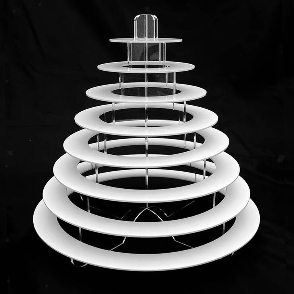 8 Tier Macaron Tower Display Stand for French Macarons Cupcake Muffin Cake