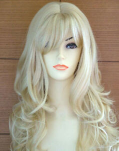 Hot-Sell-New-Fashion-Long-Light-Blonde-Curly-Women-Lady-Hair-Wig-Wigs-Wig-Cap