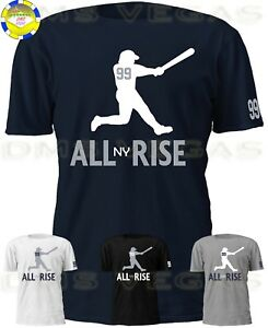 aa3af3634 New York Yankees Aaron Judge All Rise NY Jersey Tee T Shirt Shadow ...