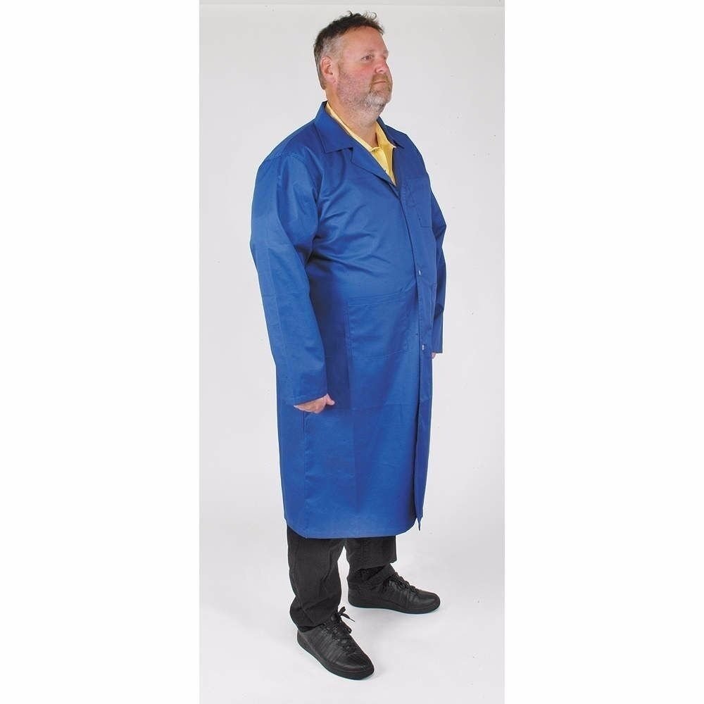 CONDOR 4TWE3 Lab Coat, Mens, Blau, L (LS1768A)
