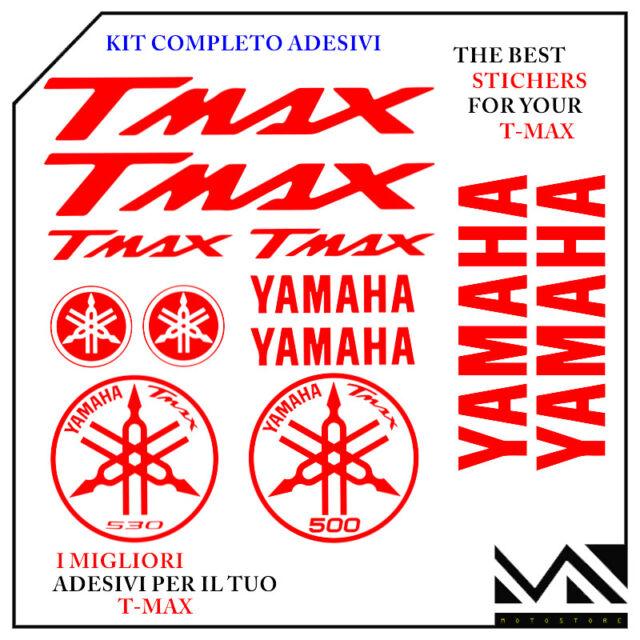 KIT 12 PEZZI SERIE DI ADESIVI YAMAHA TMAX  T- MAX 500 - 530 COLORE ROSSO