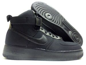 5bfdd1dce495 NIKE AIR FORCE 1  07 CANVAS BLACK BLACK-ANTHRACITE SIZE MEN S 10 ...