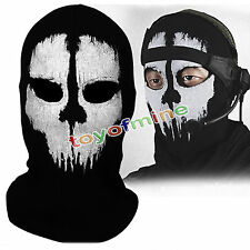 Balaclava fantasma Skull Bike Helmet Hood collo Maschera per il viso