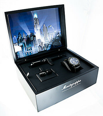 Montegrappa Batman Rollerball Pen Cufflink & Watch Set Limited Edition ISBMNRIS