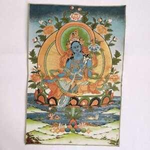 36-034-Tibet-Tibetan-Cloth-Silk-Buddhism-Tara-Guanyin-Kwan-yin-Tangka-Thangka-Mural
