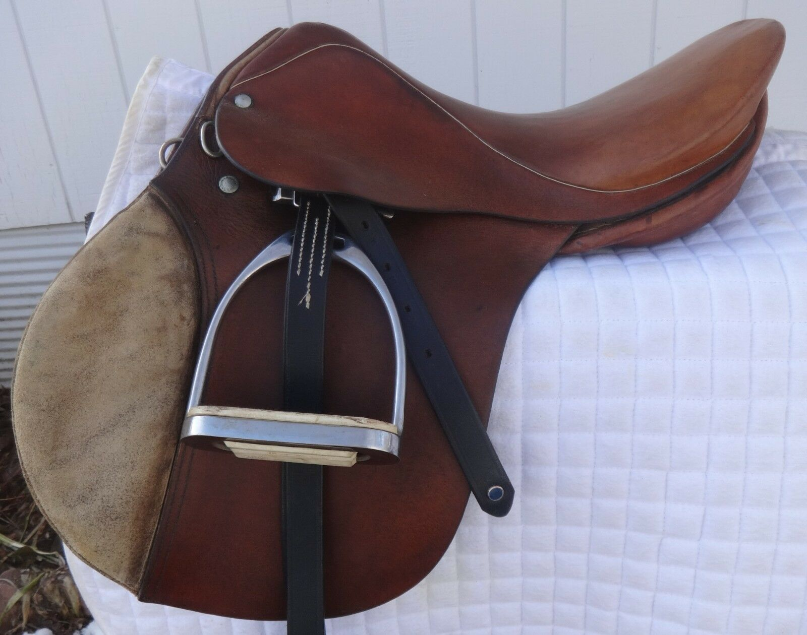 RARE STUBBEN English Jump Show Saddle - REX - 16  - GREAT  Rare GERMANY Model