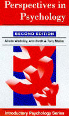 Wadeley, Alison, Perspectives in Psychology (Introductory Psychology Series), Ve