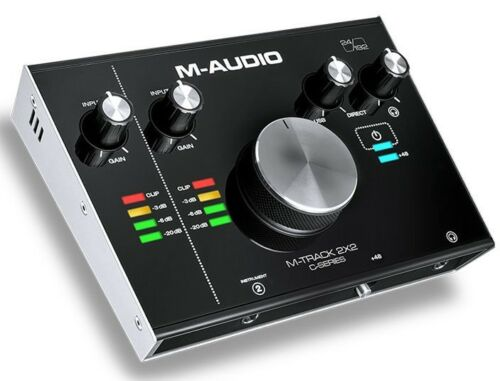 2-Out 24//192 USB Audio Interface M-Audio M-Track C-Series 2x2-2-In
