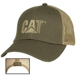 99212ff027e Caterpillar CAT Equipment Trucker Olive   Tan Twill Mesh Diesel Cap ...