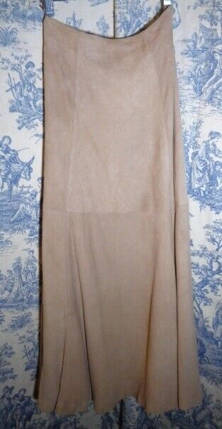 Paul Alexander suede leather skirt sz 4 tan very soft
