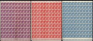 Lot-Stamp-Germany-3-Sheet-1941-WWII-3rd-Reich-AH-Adolf-Hitler-MNH-MNG