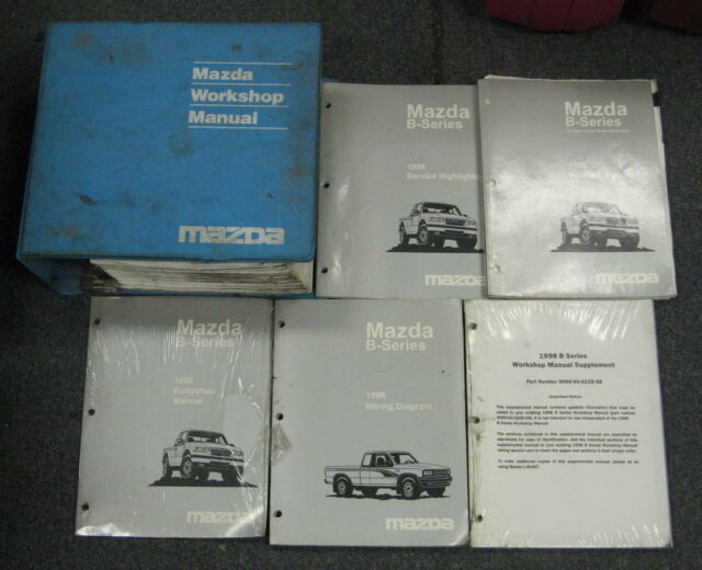 1998 Mazda B Series Truck Service Repair Manual Set