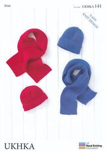 Aran Yarn Knitting Pattern UKHKA 141 for Easy Knit Kids Childrens ... cf3a39163b4